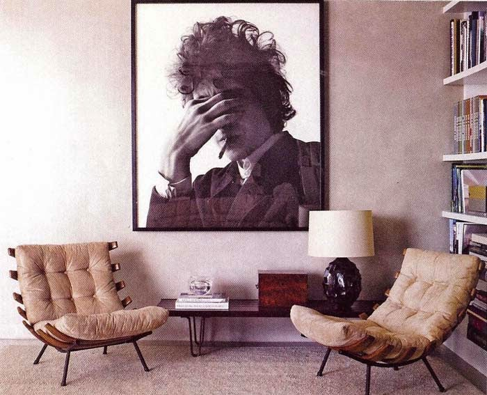 rock star photos as decorations - bob dylan photo