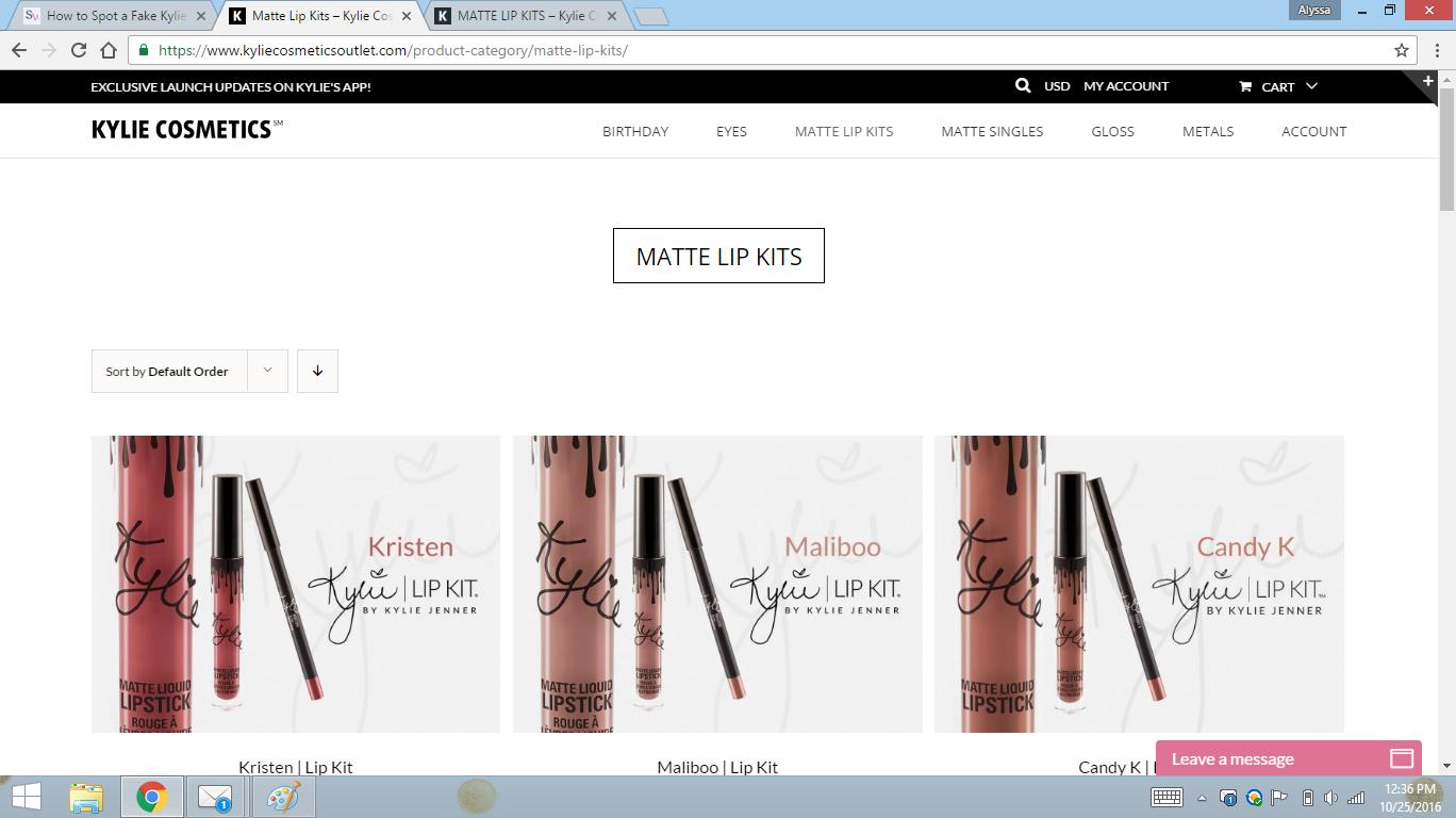 Beware of The Fake Kylie Cosmetics Website - Style Vanity