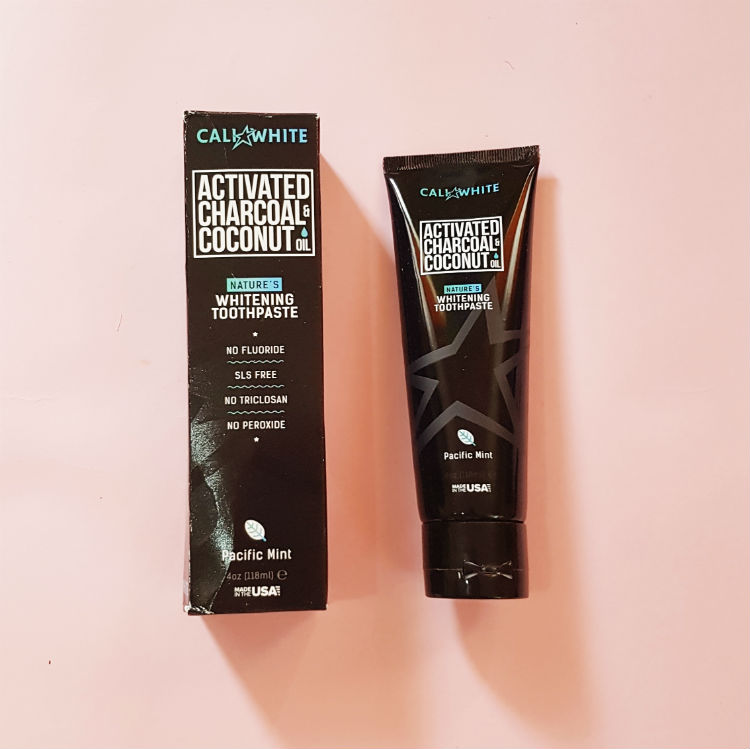 Cali White Activated Charcoal Organic Coconut Oil Toothpaste